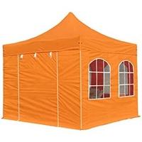 TOOLPORT Faltpavillon 3,00 x 6,00 m inkl. Seitenteile orange (578797)
