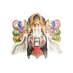 Oriental Galerie Holzbild Ganesha Maske Weiß, Ganesha (1 Stück), Handarbeit
