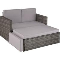 Tectake Korfu Rattan Lounge Variante 2 grau
