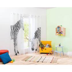 Gardine Zebra, my home, Ösen (2 Stück) 140 cm x 295 cm