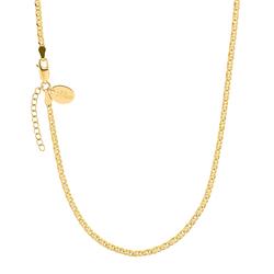 s.Oliver s.Oliver Halskette für Damen, Silber 925 vergoldet, 42+3 cm