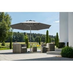 Schneider Schirme Sonnenschirm Gemini, LxB: 360x360 cm, ohne Schirmständer grau