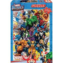 Carletto Puzzle Educa - Marvel Super Heroes 500 Teile Puzzle, Puzzleteile
