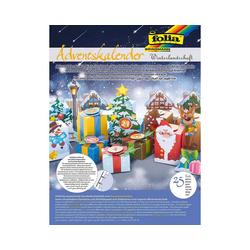 Folia Wandkalender Adventskalender Winterlandschaft, 25-tlg.