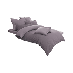 Schlafgut Bettwäsche Uni-Jersey Melange in mauve, 135 x 200 cm