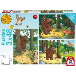 Der Grüffelo: Wer hat Angst vorm Grüffelo?. 3 x 48 Teile Puzzle