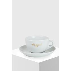 Elbgold Kaffee Latte-Tasse groß mit Untertasse