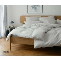 elegante Bettwäsche Breeze - 40x80cm-135x200cm kreide