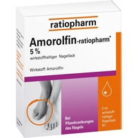 Ratiopharm AMOROLFIN-ratiopharm 5% wirkstoffhalt.Nagellack