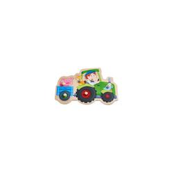 Haba Steckpuzzle HABA 305550 Greifpuzzle Lustige Traktorfahrt, 6, Puzzleteile