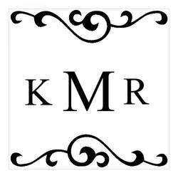 Monogrammstempel - Initialen & Arabesken Design - Trodat 4924