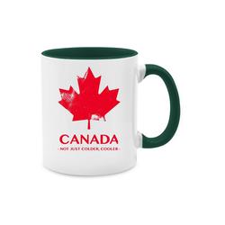 Shirtracer Tasse Canada Vintage Not just colder cooler - Länder - Tasse zweifarbig - Tassen, tasse canada kanada