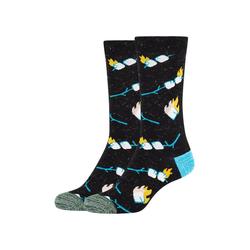 Fun Socks Socken Marshmallow (2-Paar) mit lustigem Marshmallow-Muster