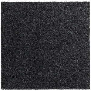 Teppichfliesen Intrigo 50x50cm selbstliegend Bodenbeläge Velours, Farben:Schwarz