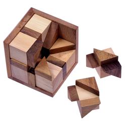 Logoplay Holzspiele Spiel, Octagon - 3D Puzzle - Denkspiel - Knobelspiel - Geduldspiel - Logikspiel im Holzrahmen Holzspielzeug