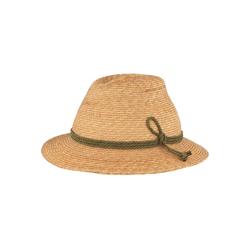 Breiter Trachtenhut Trachten-Strohhut mit 3-fach Kordel S