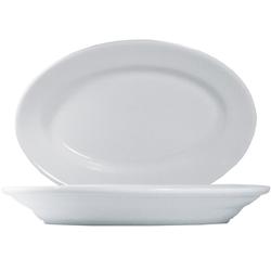 15 x Tivoli Uni Platte oval 25cm * - weiß - Saturnia