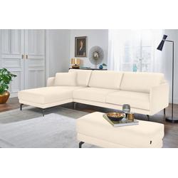 hülsta sofa Ecksofa hs.450, mit schmaler Armlehne weiß