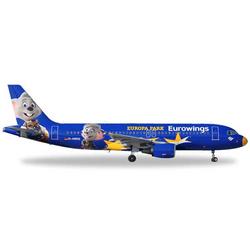 Herpa 558808 Wings Airbus A320 Eurowings Europa-Park 1:200