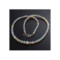 Bella Carina Perlenkette Kette mit echtem Kristall Opal 4 - 7 mm facettiert