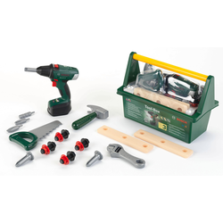 Klein Spielwerkzeugkoffer Bosch Werkzeug-Box grün Kinder Kinderwerkzeug Werkbänke Werkzeug Spielwerkzeug