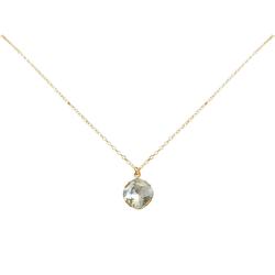 Gemshine Kette mit Anhänger Facettiertes Kristall, MADE WITH SWAROVSKI ELEMENTS goldfarben