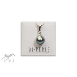 DI PERLE Perlenanhänger 925 Silber Tahiti Perlen Anhänger, Damen Perlenschmuck