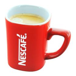 NESCAFE Becher Kaffeebecher mit Henkel, rot, 125 ml