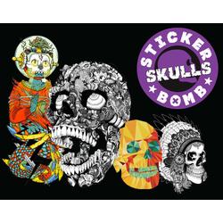 Stickerbomb Skulls als Buch von