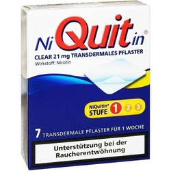 NIQUITIN Clear 21 mg transdermale Pflaster 7 St