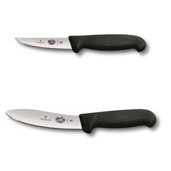 Victorinox Tafelmesser Kaninchenschlachtmesser-Set schwarz (2 Stück), Schlachtmesser, Abhäutermesser