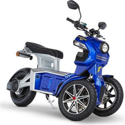 Doohan eGo2 Dreirad Elektroroller 1560W - 45km/h, blau