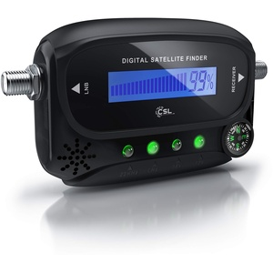 CSL - Digital Satfinder - Satelliten Finder Messgerät - LCD-Display - HD TV-fähig - mit integriertem Kompass und Tonausgabe - LEDs zur Anzeige der Receiver Einstellungen - auch für Astra 19.2 digital