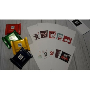 24 Banderolen für Ritter Sport Mini Schokoladen Adventskalender - Motiv 3