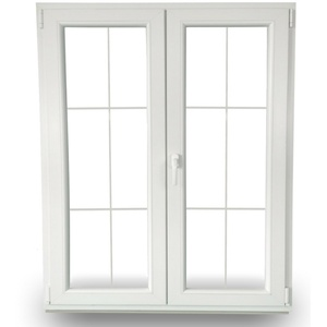 Kunststoff Balkontür Terrassentür Sprossentür Sprossenfenster Stulptür 2 Fach