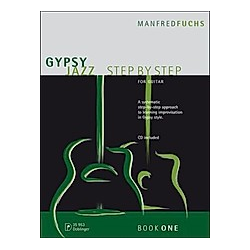 Gypsy Jazz Step by Step  für Gitarre  m. Audio-CD. Manfred Fuchs  - Buch