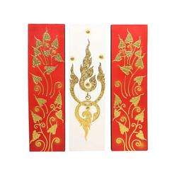 Oriental Galerie Leinwandbild Bild Wand Deko Triptychon 90 cm Nr.21, Abstrakt (3 Stück), Handarbeit