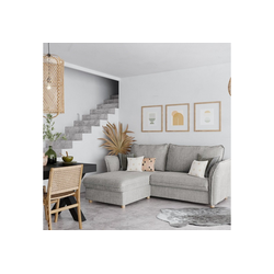 PLACE TO BE. Schlafsofa, Schlafsofa Insideout 85 mit Recamiere links grau