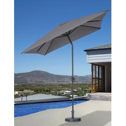 garten gut Sonnenschirm, LxB: 200x300 cm, abknickbar, ohne Schirmständer grau