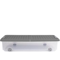 ONDIS24 Aufbewahrungsbox Unterbettbox Rollerbox Aufbewahrungsbox 35 W (1 Stück, Grau), 35 liter
