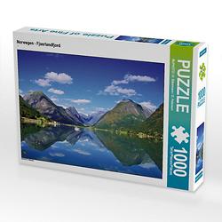 Norwegen - Fjaerlandfjord Lege-Größe 64 x 48 cm Foto-Puzzle Bild von Klaus Steinkamp Puzzle