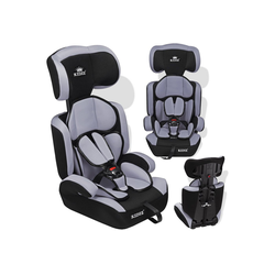 KIDIZ Autokindersitz, Autositz 9-36 kg Gruppe 1+2+3 Kinderautositz Stabil und Sicher Sitzschale Kindersitz grau