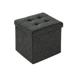 tectake Sitzhocker Faltbarer Sitzwürfel aus Polyester mit Stauraum (1 St) grau