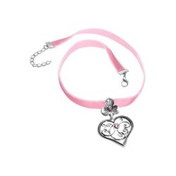 tectake Halsband Halskette Bergkristall rosa