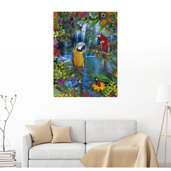 Posterlounge Wandbild, Tropisches Paradies der Papagaien 70 cm x 90 cm