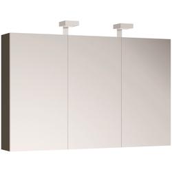 ALLIBERT Spiegelschrank , Breite 120 cm mit LED-Beleuchtung grau