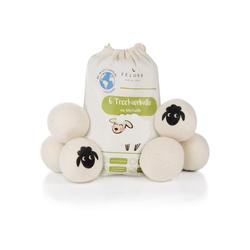 Feluna Wäschekugel Öko Trocknerbälle für Wäschetrockner (6er Set), Biologischer Weichspüler aus 100% Schaf-Wolle