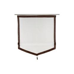 Raffrollo, dynamic24, Fenster Rollo 100x140cm Jalousie Faltrollo Deko braun weiß