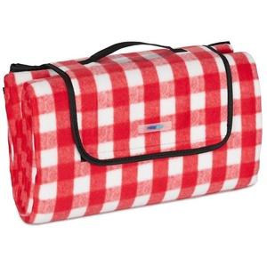 Picknickdecke Picknickdecke rot-weiß kariert, relaxdays