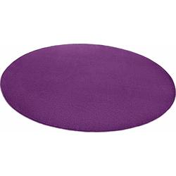 Teppich Fancy, HANSE Home, rund, Höhe 7 mm, Kurzflor, gekettelt lila Ø 133 cm x 7 mm